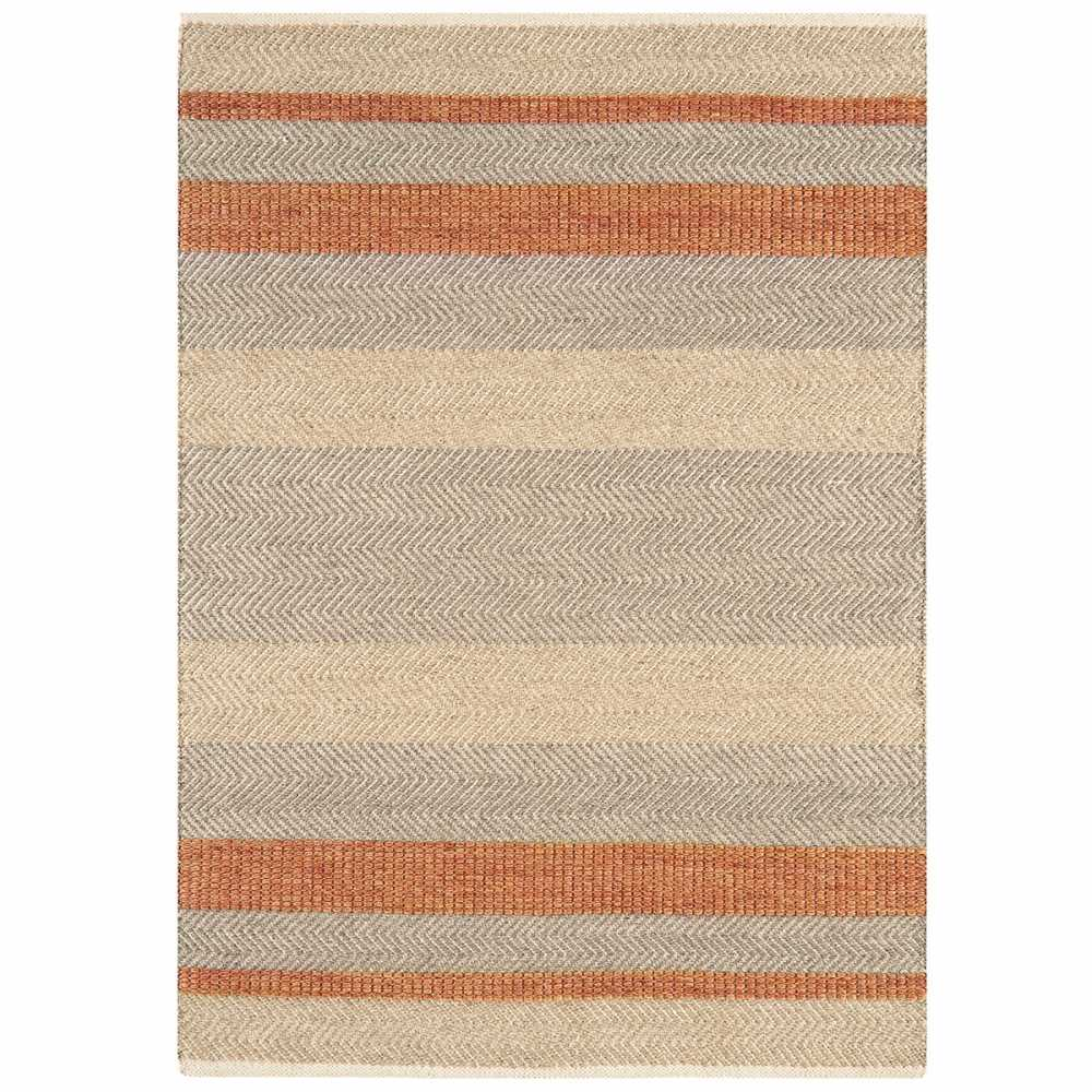 tapis moderne ray orange beige et gris en laine coton et viscose. Black Bedroom Furniture Sets. Home Design Ideas