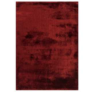 Tapis design de salon rouge en viscose