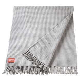 Plaid design gris avec structure gaufrée à franges par Esprit Home