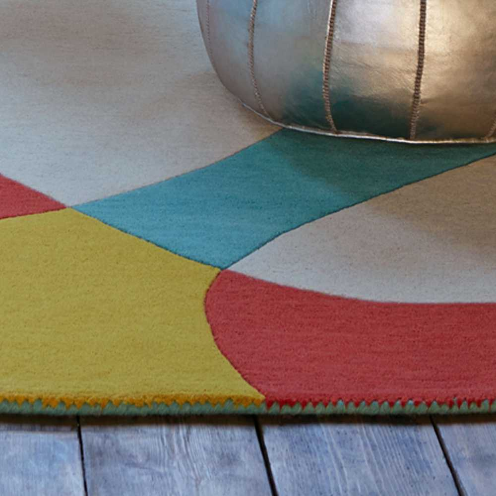 tapis contemporain multicolore formes colores par joseph lebon - Tapis Contemporain