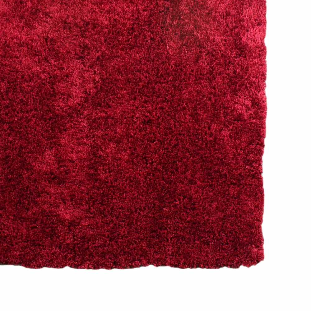 tapis shaggy longues m ches rouge moelleux. Black Bedroom Furniture Sets. Home Design Ideas