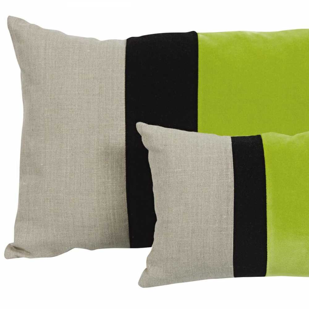coussin moderne rectangulaire beige noir et vert moelleux. Black Bedroom Furniture Sets. Home Design Ideas