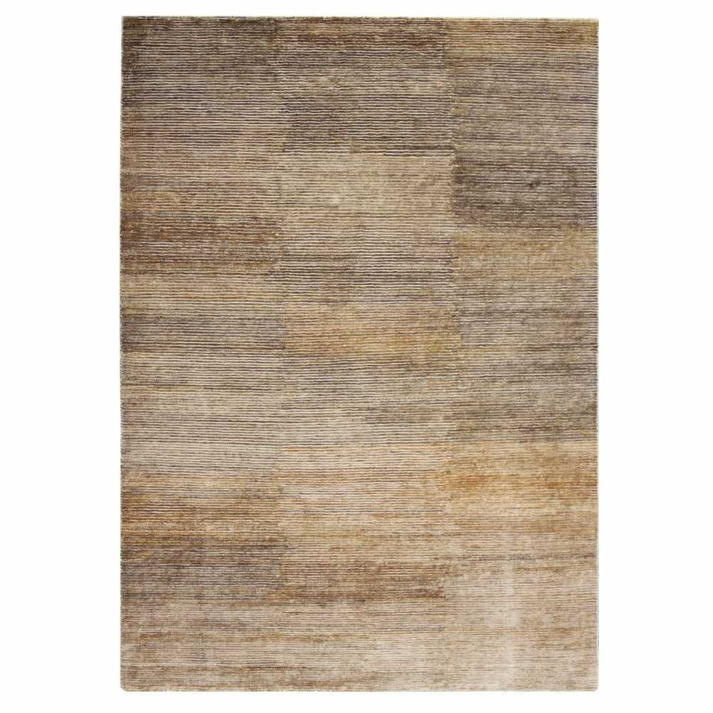 Tapis contemporain de salon marron en laine et chanvre - Tapis laine contemporain ...
