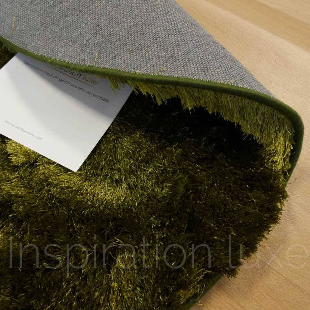 tapis sur mesure rond vert longues m ches par inspiration luxe editions. Black Bedroom Furniture Sets. Home Design Ideas