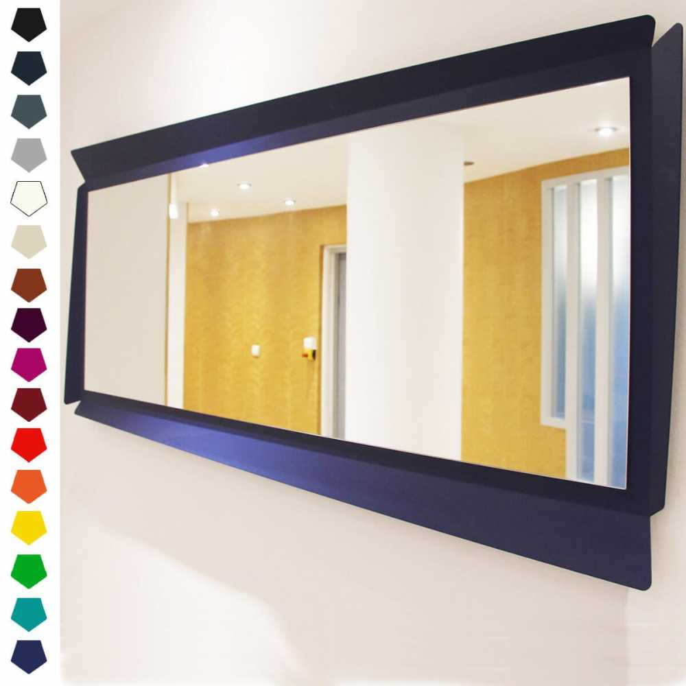 Miroir design made in france cuatro par zhed 16 couleurs for Miroir france