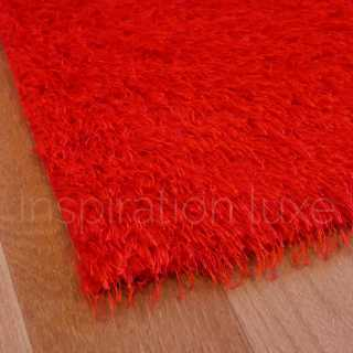Tapis lavable en machine sur mesure rouge
