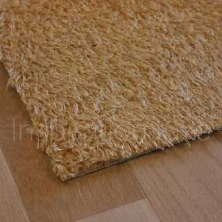Tapis marron lavable en machine sur mesure