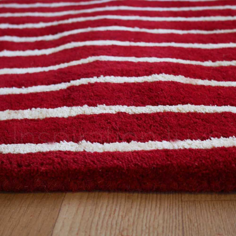 Tapis de luxe design rouge Tridimensional par Carving
