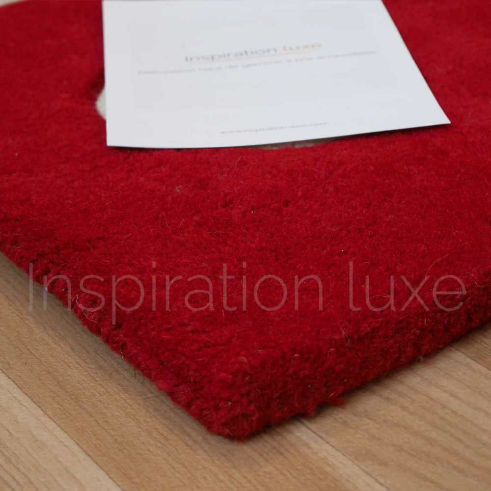 Tapis de luxe design rouge Arabesque par Carving