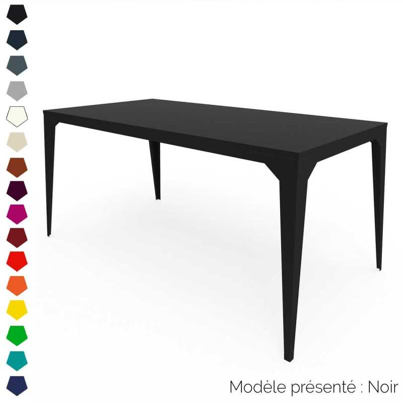 Table rectangulaire en m tal personnalisable d 39 int rieur for Table d exterieur en aluminium