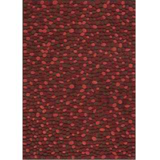 Tapis design rouge Vitalize par Ligne Pure
