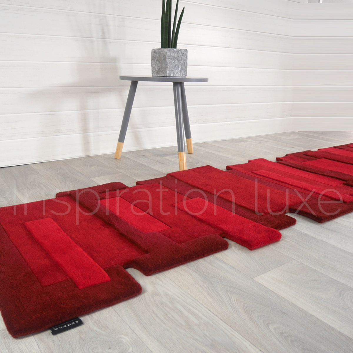 tapis design rouge. Black Bedroom Furniture Sets. Home Design Ideas