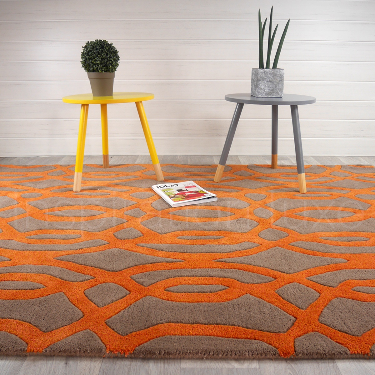 Carreaux ciment bricoman for Tapis de salon gris et beige