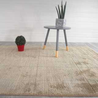 Tapis beige en laine et viscose Grosvenor par Inspiration Luxe Collection