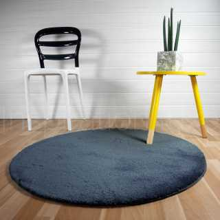 tapis rond bleu commandez votre tapis rond bleu inspiration luxe. Black Bedroom Furniture Sets. Home Design Ideas
