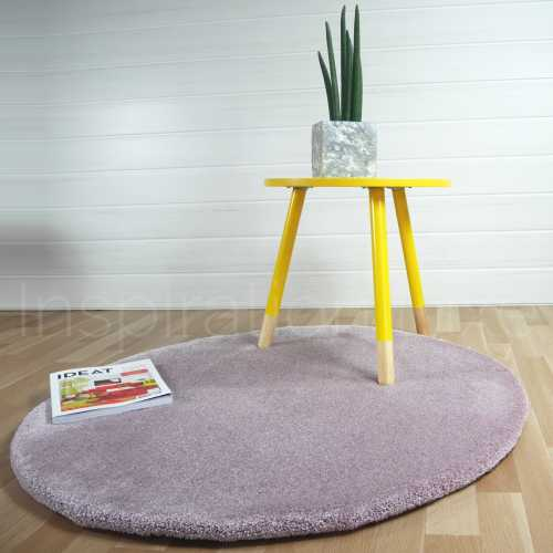 Tapis rond rose par Inspiration Luxe Editions