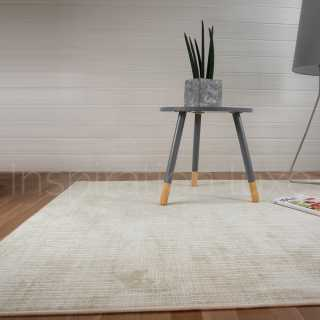 Tapis sur mesure en viscose à carreaux beige rectangulaire ou carré