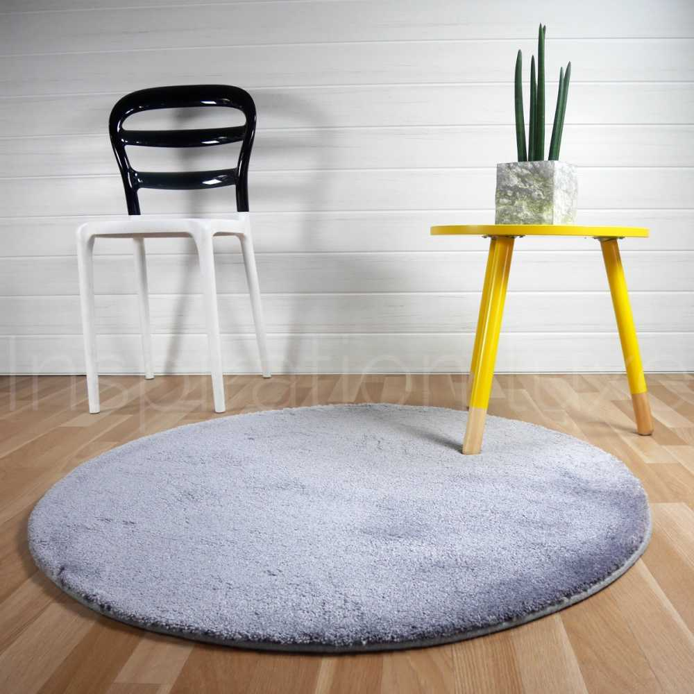 tapis rond gris clair tapis nuance uni gris with tapis. Black Bedroom Furniture Sets. Home Design Ideas