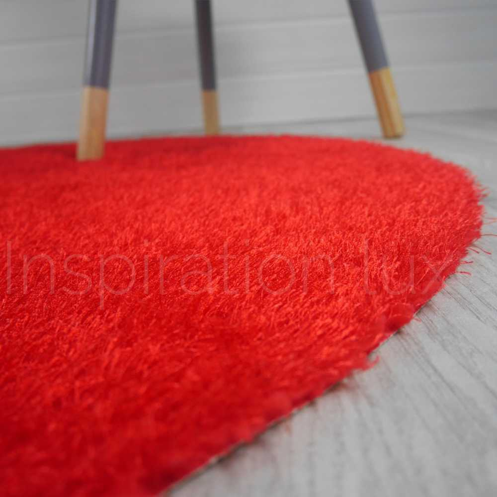 tapis rond lavable en machine rouge id al pour salle de bain de diam tre 100 cm. Black Bedroom Furniture Sets. Home Design Ideas