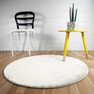 tapis rond sur mesure blanc ou cr me tapis modernes et. Black Bedroom Furniture Sets. Home Design Ideas