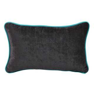 Coussin moderne rectangulaire anthracite en velours 45 x 30 cm