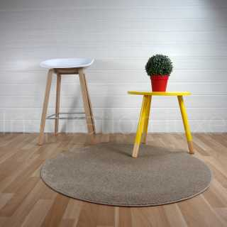 Tapis fin rond taupe par Inspiration Luxe