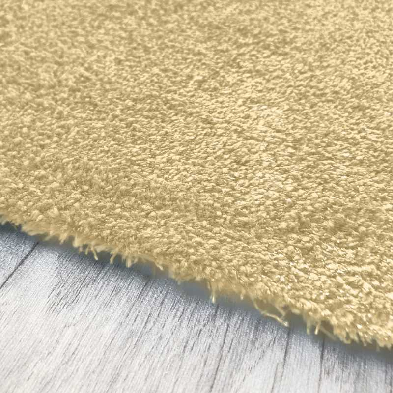 Tapis Lavable En Machine Sur Mesure Ivoire Aspect Viscose