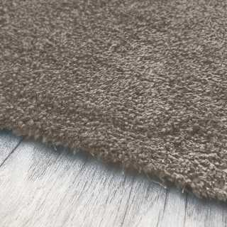 Tapis fin gris clair sur mesure lavable en machine aspect viscose