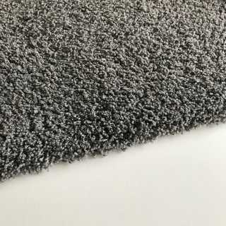 Tapis sur mesure lavable en machine gris anthracite type shaggy
