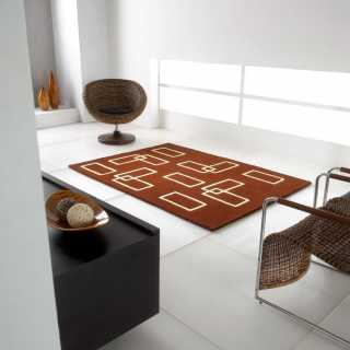 Tapis de luxe contemporain marron par Carving