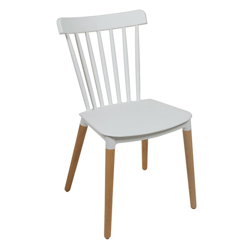 Lot De 4 Chaises Blanches En Polypropylene Design Retro