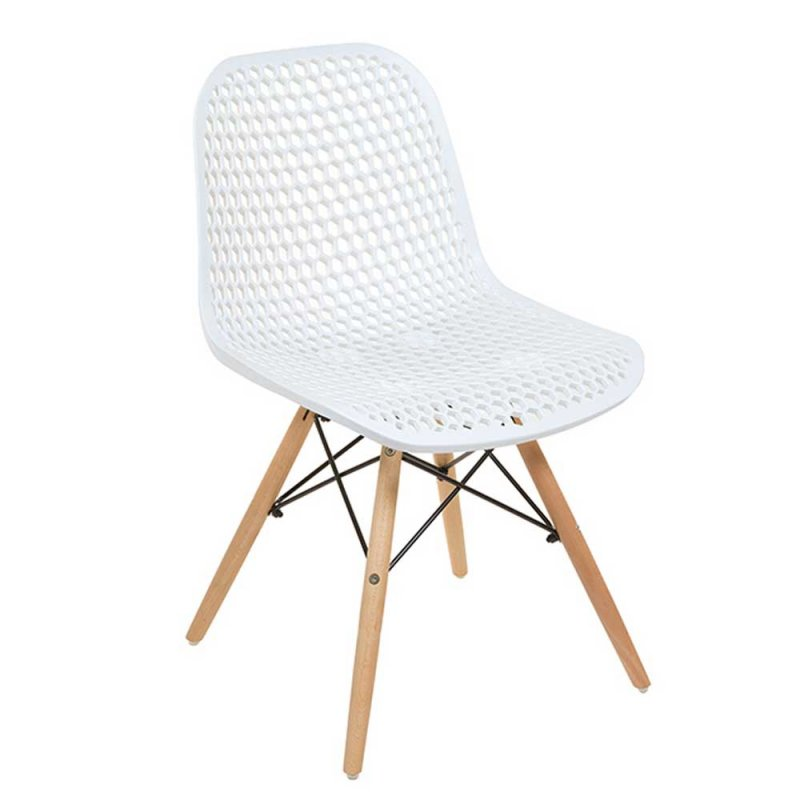 Lot De 4 Chaises Blanches Design En Polypropylene