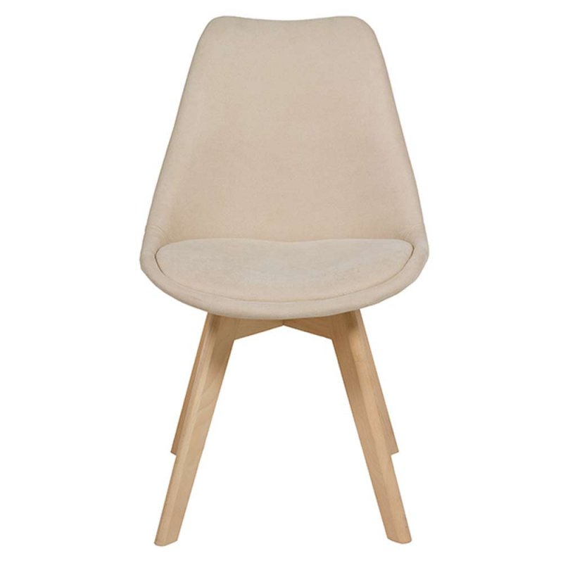 chaise type scandinave beige