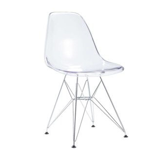 Chaise transparente design en polycarbonate